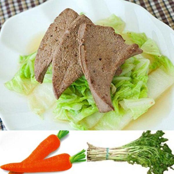 Kết quả hình ảnh cho gan động vật với cà rốt