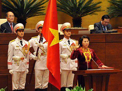 Tân Chủ tịch Quốc hội Nguyễn Thị Kim Ngân tuyên thệ nhậm chức